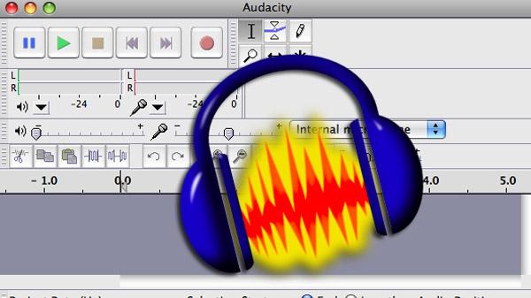 Montaggio audio con Audacity
